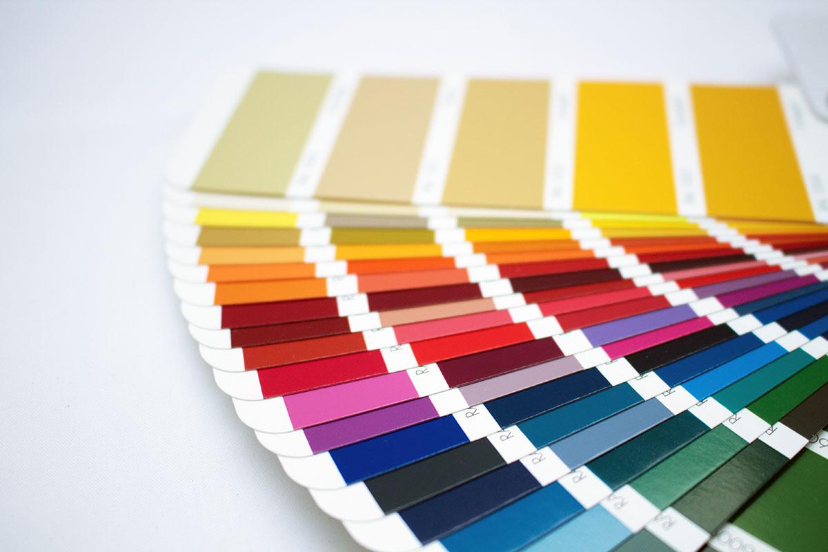 Paleta kolorów farb